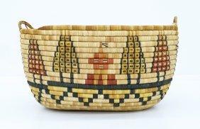 """Zelma Honyaoma (1916-1991 Hopi) Coiled Indian Basket 9"""""""
