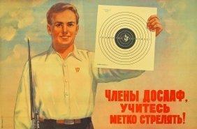 Ivanov, K K, [members Of Dosaaf, Learn To Shoot