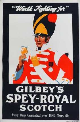 Gilbey's Vintage Advertising Poster, 20''x13.5'',