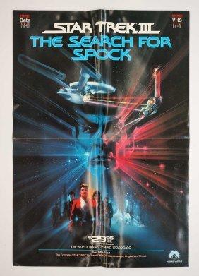 Star Trek & Star Trek Iii Promotional Posters 1984-85.
