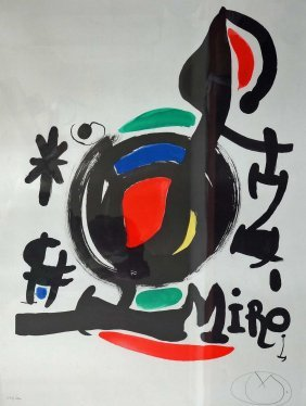 Joan Miro (1893-1983 Spanish) ''italia'' 1969