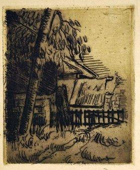 Paul Cezanne (france, 1838-1906) Etching [paysage A