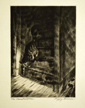 Peggy Bacon Signed Original Aaa Etching [haunted