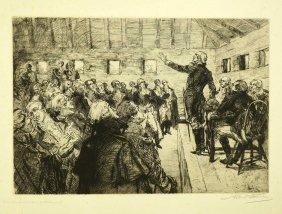 Albert Sterner Signed Original Etching [presenting A