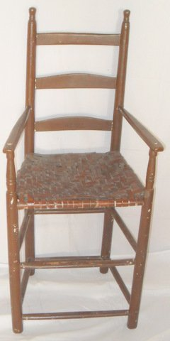 Early NE Child's Ladder-back Chair