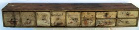 10 Drawer Counter Top Apothecary