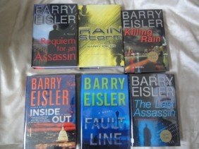 6 AUTHOR HAND SIGNED BOOKS BY BARRY EISLER
