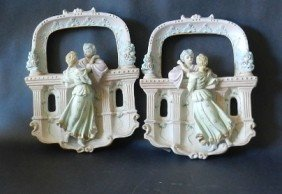 (2) Hand Painted Wedgewood Ceramic Figurines