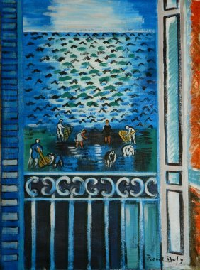 Oil On Canvas Signed Raoul Dufy