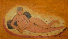 Zoran Antonio Music (1909-2005) Oil On Board
