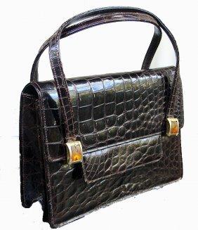 Vintage Saks Fifth Avenue Alligator Handbag