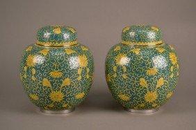 Cloisonne Jars