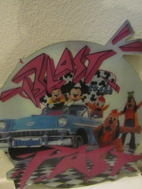 1989 DISNEYLAND, BLAST IN TO THE PAST, CAST SIGN