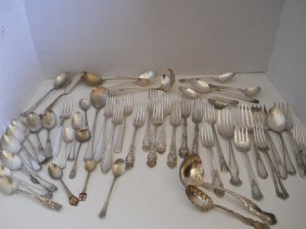 MIXED /SILVERPLATE SPOONS,BERRY SPOON,LADLE