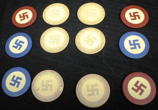 Nazi poker chip set
