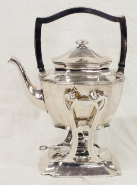 Silver Plated Tea Pot With Stand And Burner