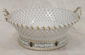 Antique German Reticulated Bowl / Fruit Basket