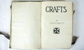 """1920-1930's """"craft"""" Hand Written Book"""