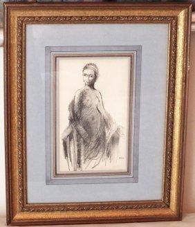 "Pierre Bonnard (1867-1947) ""sitting Nude"""