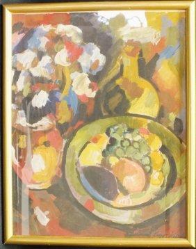 """Konstantin Korovin (russian, 1861 - 1939)""""still Life"""""""