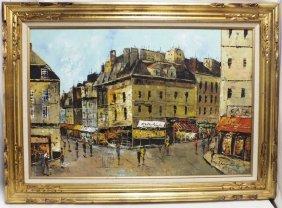 """impressionist Citiscape""oil On Canvas"