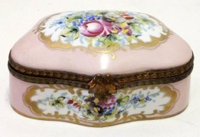 French Sevres Style Porcelain And Bronze Box