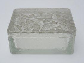Rene Lalique Hirondelles Cigarette Box