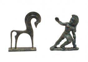 Pair Of Ancient Roman Bronze Figurines