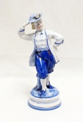 Bisque Figurine With Cyrillic Mark (russian)