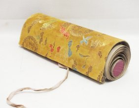 Chinese Erotic Hand Painted Scroll