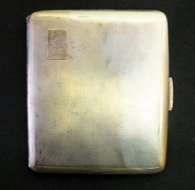 English Sterling Silver Cigarette Case