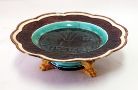 Wedgewood Majolica Footed Compote