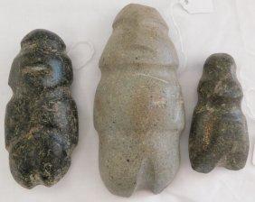 Three Pre-columbian Stone Mezcalas