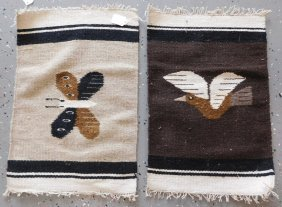 2 Small Mexican Effigy Weavings