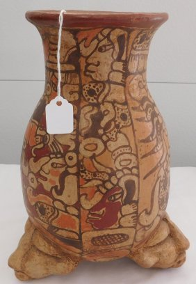 Mayan Style Effigy Pot