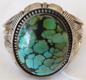L. Etsitty Navajo Sterling Silver And Turquoise