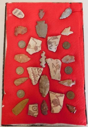 Hohokam Artifact Collection W/indian Head Pennies