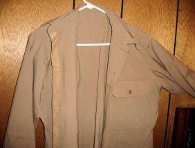 WW2 Shirt W/ Castle Collar Insignia