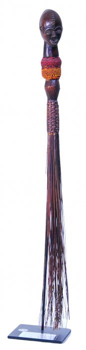 Royal Ceremonial Sweeper -wood With Glass Beads.