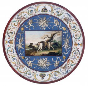 Important Micromosaic Table Top, Italy Early 19th Cent.
