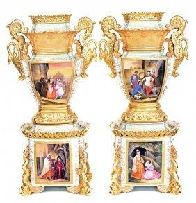Pair Of Jacob Petit Porcelain Vases