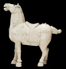 A Large Ivory Horse, Chinese
