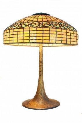 "Tiffany Studios (1899-1920) ""swirling Leaf"" Table Lamp"