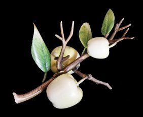 Fine Ivory Carving Of Apples