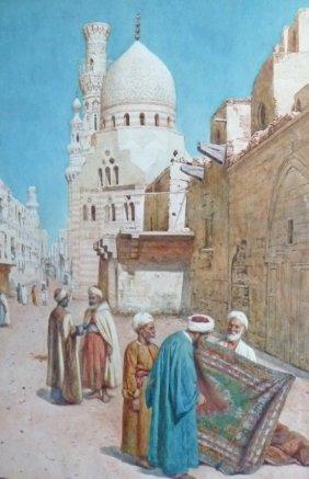 "Enrico Terenghi (Italian 1848-1938) ""The Carpet Mer"
