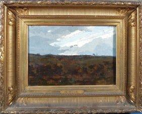 """Alexandre Sege (France 1818-1885) """"Paysage"""" Oil On"""