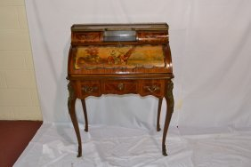 INLAID LADIES VERNIS MARTIN STYLE DESK WITH