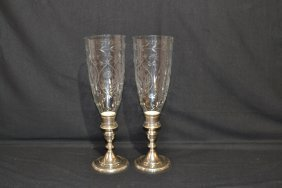 (Pr) TOWLE WIEGHTED STERLING CANDLESTICKS WITH