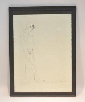 Hand Signed Leonard Baskin (1922-2000) Lithograph