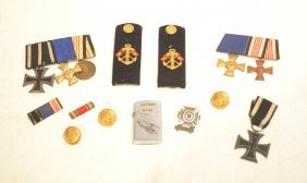 Assorted German Medals & Buttons Including